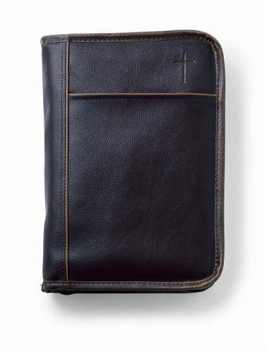 9780310979340: Distressed Leather-Look Bible Cover Brown XL