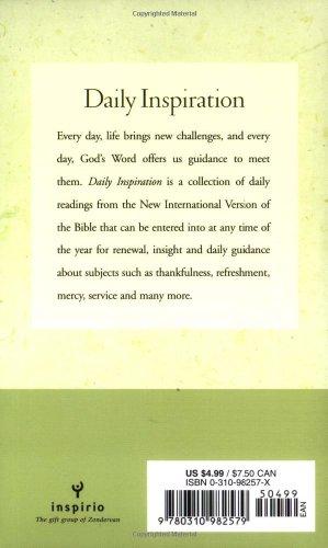Daily Inspiration from the New International Version - Zondervan Publishing, Pat Matuszak