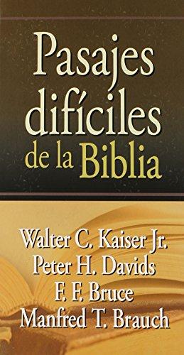 9780311030651: Pasajes Dificiles de la Biblia (Spanish Edition)