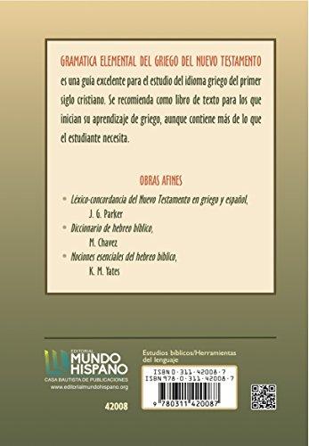 9780311420087: Gramatica Elemental del Griego del Nuevo Testamento (Spanish Edition)