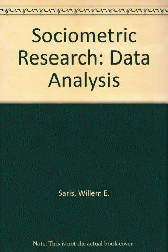 9780312004187: Sociometric Research: Data Analysis