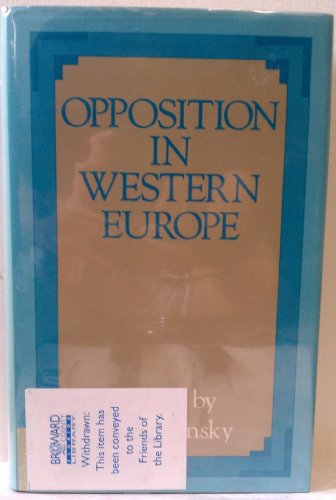 9780312004729: Title: Opposition in Western Europe