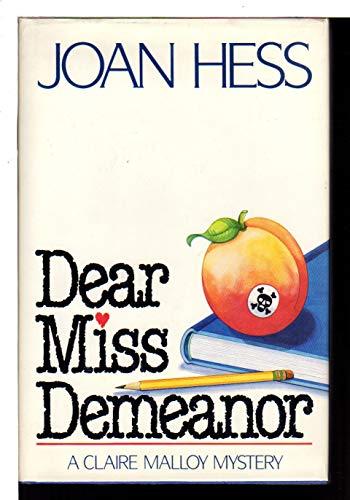 9780312007027: Dear Miss Demeanor (Claire Malloy Mysteries, No. 3)
