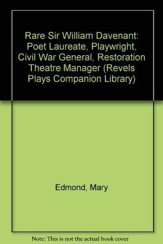 Rare Sir William Davenant: Poet Laureate, Playwright, Civil War General, Restoration Theatre ...