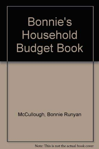 9780312009922: Bonnie's Household Budget Book