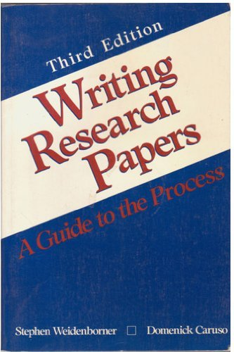 9780312017019: Writing research papers: A guide to the process