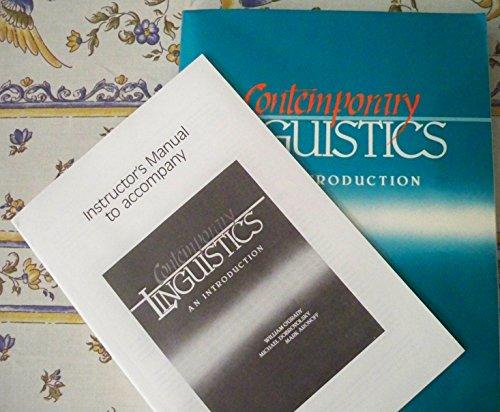 9780312018788: Contemporary linguistics: An introduction