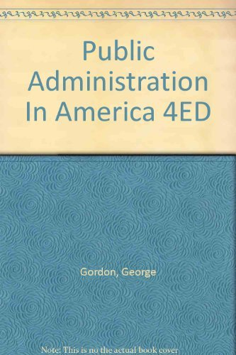 9780312018849: Title: Public Administration In America 4ED