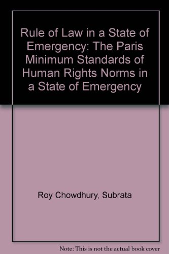 Rule of Law in a State of: Roy Chowdhury, Subrata