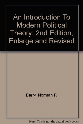 9780312032517: An Introduction To Modern Political Theory: 2nd Edition, Enlarge and Revised