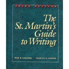 9780312034955: The St. Martin's Guide to Writing 3rd edition
