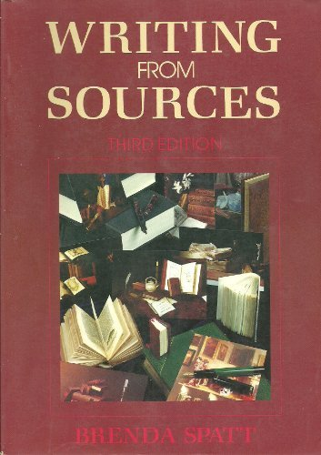 9780312035044: Writing from Sources