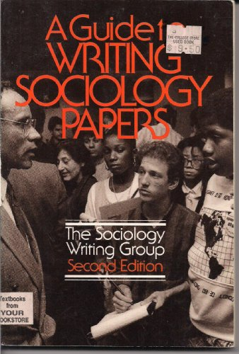 A Guide to writing sociology papers: Giarruso, Roseman; Giarruso, Roseann