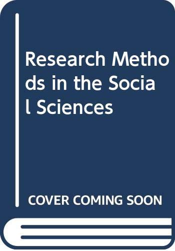 9780312036522: Research Methods in the Social Sciences