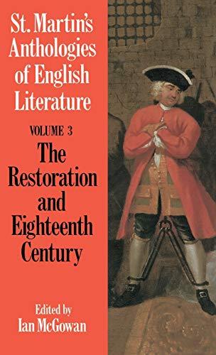 The Restoration and Eighteenth Century: Ltd, Palgrave Macmillan
