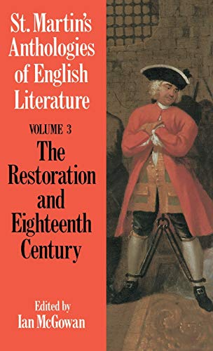 9780312044770: St. Martin's Anthologies of English Literature: Volume 3, Restoration and Eighteenth Century (1160-1798)