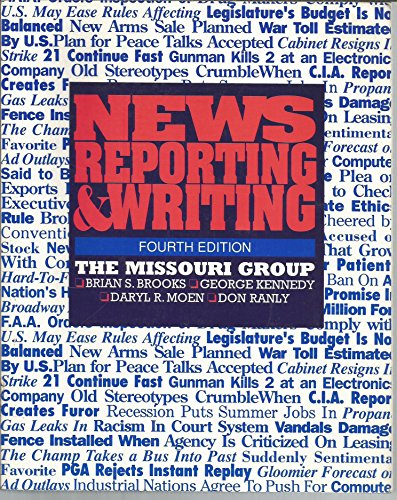 9780312047689: News Reporting and Writing
