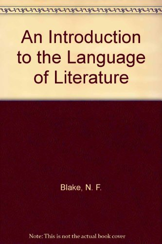 9780312048433: An Introduction to the Language of Literature