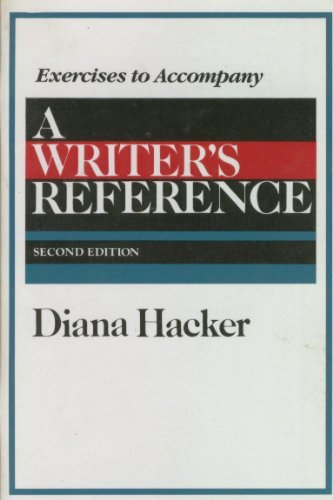 9780312052539: A Writer's Reference (Exercises to Accompany)