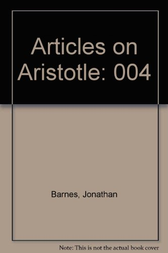 9780312054809: Articles on Aristotle, Vol. 4