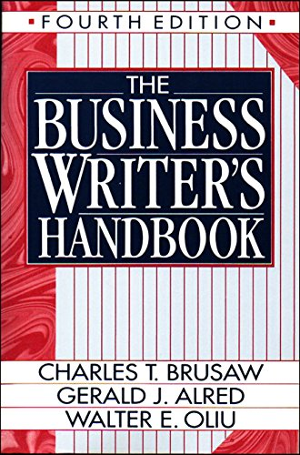 9780312057343: The Business Writer's Companion/Spiral