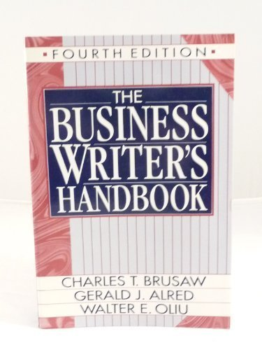 9780312057343: The Business Writer's Handbook