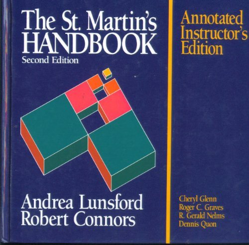 The St. Martin's Handbook, 2nd Edition: Andrea; Connors Lunsford