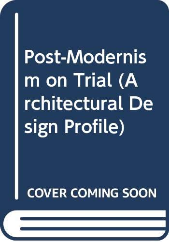 Post-Modern Classicism: The New Synthesis (Architectural Design: Jencks, Charles, guest