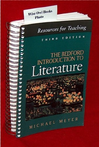 9780312074982: The Bedford Introduction to Literature: Third Edition