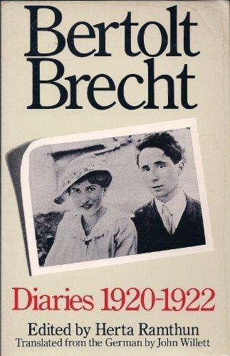 Bertolt Brecht: Diaries, 1920-22: Bertolt Brecht