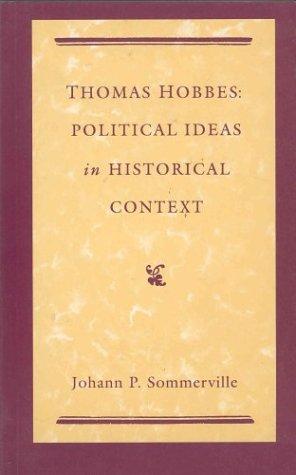 9780312079673: Thomas Hobbes: Political Ideas in Historical Context