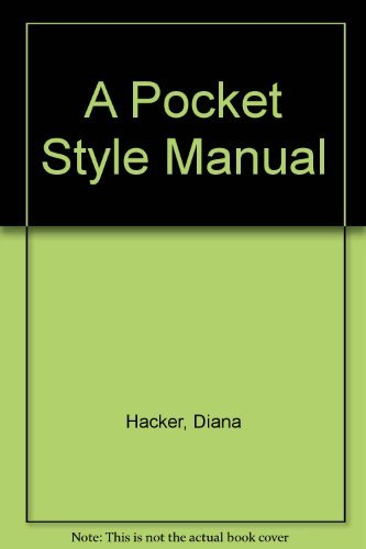 9780312083809: A Pocket Style Manual
