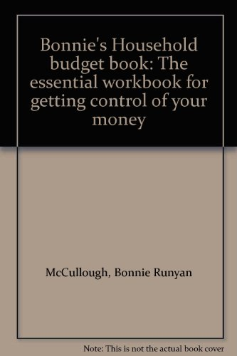 9780312087890: Bonnie's Household budget book: The essential workbook for getting control of your money