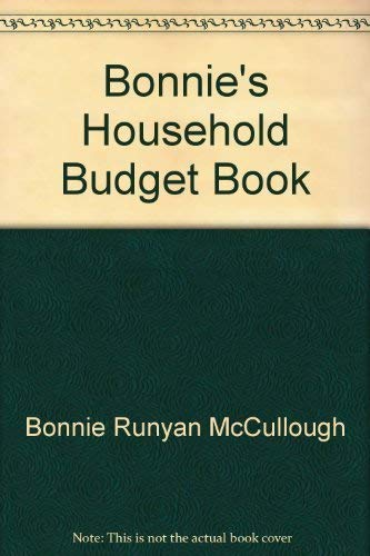 9780312087937: Bonnie's Household Budget Book