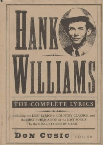 Hank Williams: The Complete Lyrics (0312088922) by Hank Williams
