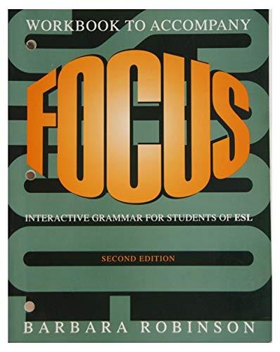9780312092306: Focus: Interactive Grammar for Students of ESL (Workbook)