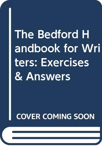 9780312096137: The Bedford Handbook for Writers: Exercises & Answers