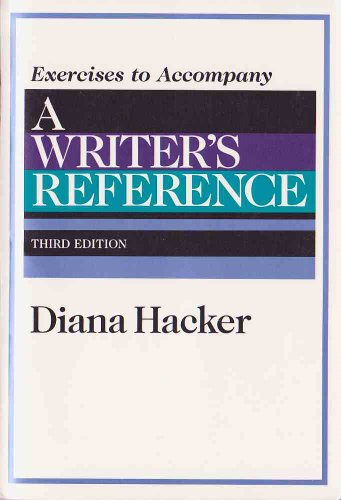Writers Reference: Exercises: Hacker, Diana