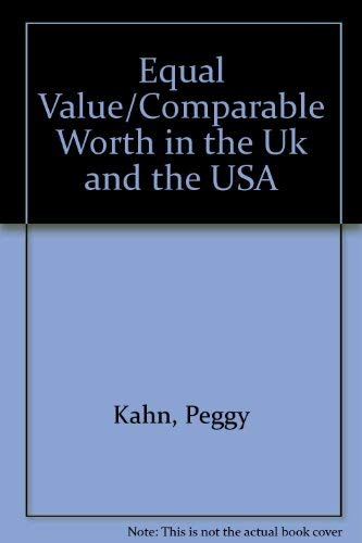 9780312101954: Equal Value/Comparable Worth in the Uk and the USA