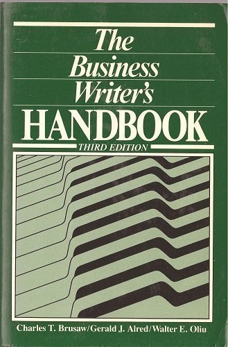 9780312109585: The Business Writer's Handbook