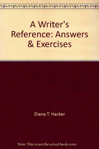 9780312115128: A Writer's Reference: Answers & Exercises