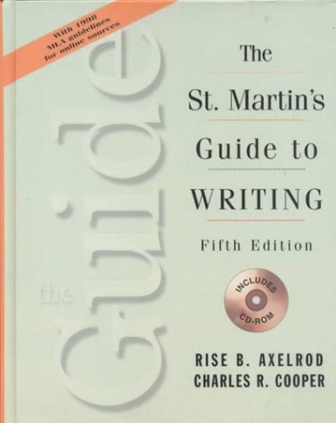 9780312116347: The St. Martin's Guide to Writing