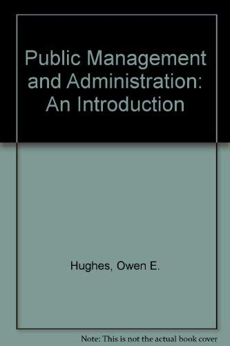 9780312120283: Public Management and Administration: An Introduction