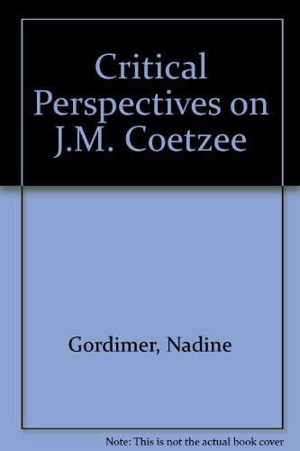 9780312123123: Critical Perspectives on J.M. Coetzee