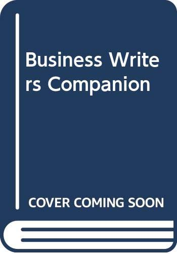 9780312133160: The Business Writers Companion
