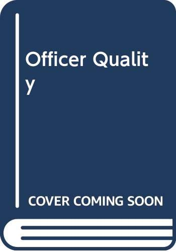 9780312135751: Officer Quality
