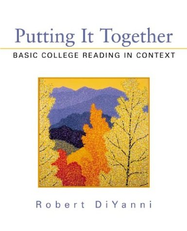 9780312136895: Putting It Together: Basic College Reading in Context