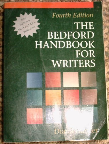 The Bedford Handbook for Writers: With Mla: Diana Hacker