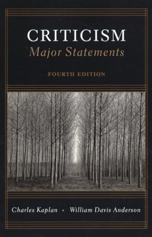 Criticism : Major Statements: Charles Kaplan, William