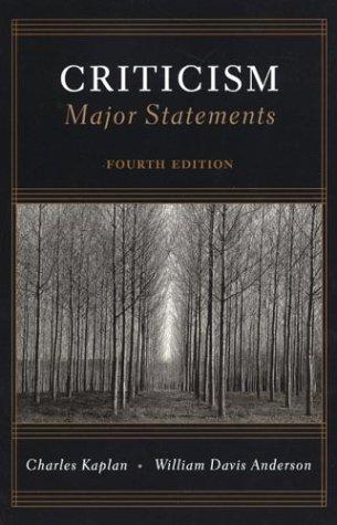9780312137458: Criticism: Major Statements, 4th Edition